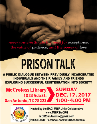Prison Talk McCreless Library December 17 1 PM