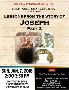Lessons from Joseph Jan 7, 2018 2 PM
